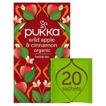 Pukka Wild Apple & Cinnamon with Ginger Teabags