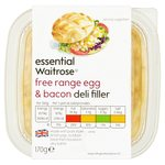 Essential Waitrose Free Range Egg & Bacon Deli Filler