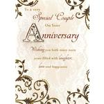 To A Special Couple Anniversary Card - Hand Finished