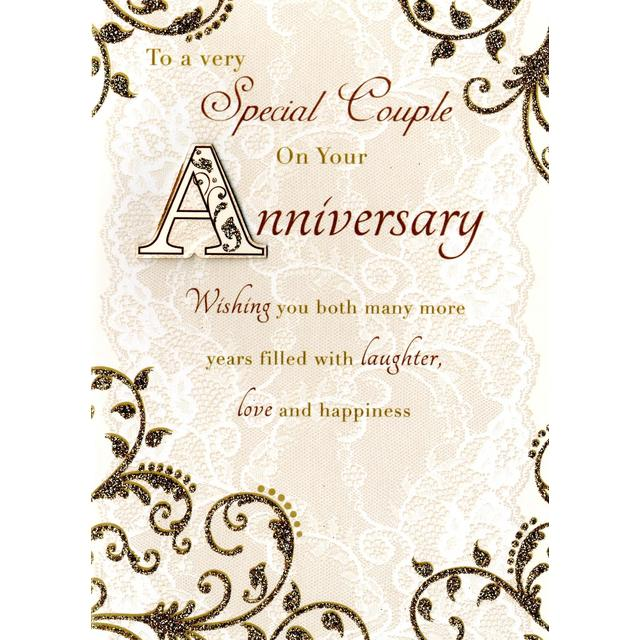 To a special couple anniversary card hand finished from ocado to a special couple anniversary card hand finished m4hsunfo