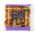 Waitrose Mini Richly Fruited Hot Cross Buns