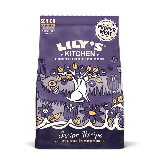 ... Dog Food; Lilyu0027s Kitchen Adult 8+ Salmon U0026 Trout Dry ...