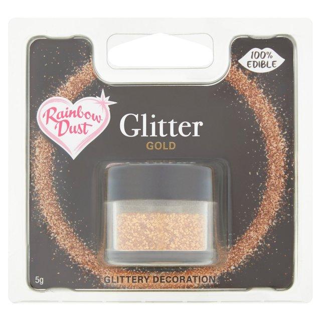 Rainbow Dust Gold Edible Glitter | Ocado