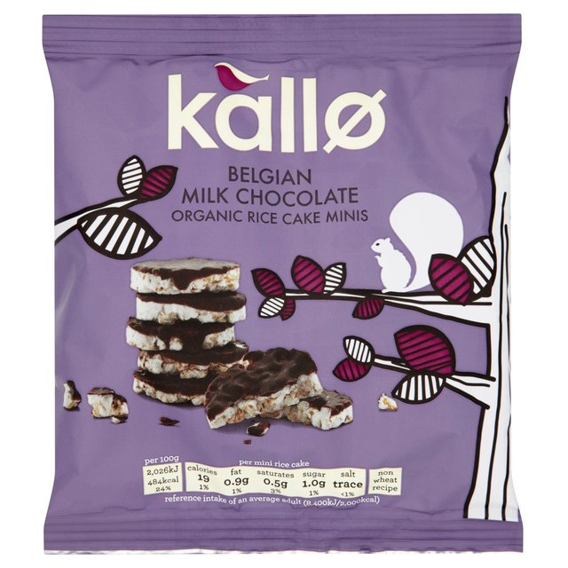 Kallo Organic Milk Chocolate Rice Cake Minis | Ocado