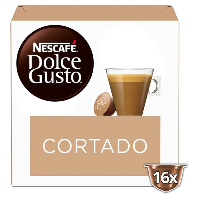 nescafe dolce gusto cortado espresso macchiato pods 16 per. Black Bedroom Furniture Sets. Home Design Ideas