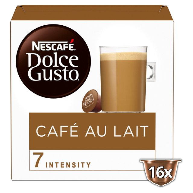 nescafe dolce gusto cafe au lait pods 16 per pack from ocado. Black Bedroom Furniture Sets. Home Design Ideas