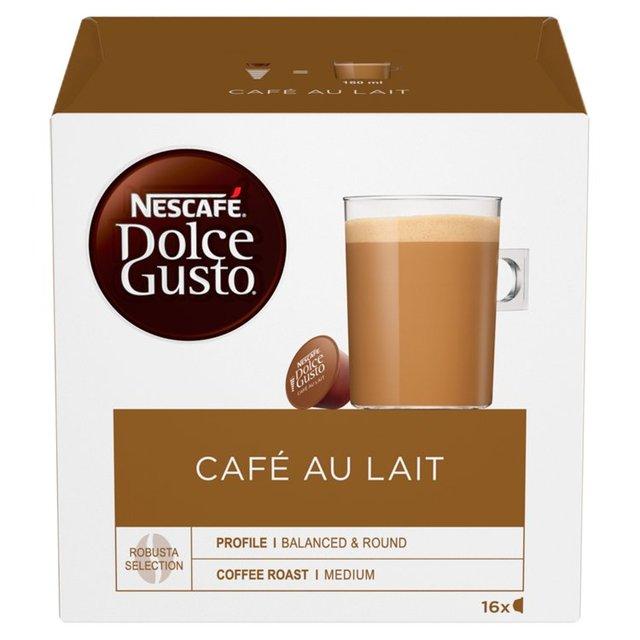 nescafe dolce gusto cafe au lait pods 16 per pack from ocado. Black Bedroom Furniture Sets. Home Design Ideas