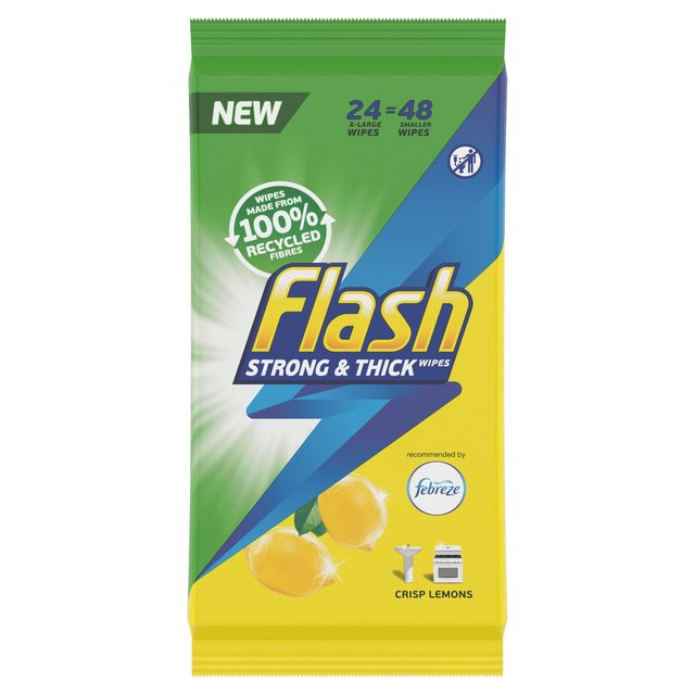 flash cleaning wipes all purpose lemon 60 per pack from ocado