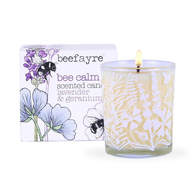 Beefayre Geranium & Lavender Scented Candle 9cl