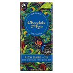 Chocolate and Love Fairtrade Organic Rich Dark 71% Dark Chocolate