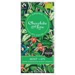 Chocolate and Love Fairtrade Organic Mint 67% Dark Chocolate