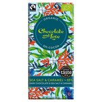 Chocolate and Love Fairtrade Organic Sea Salt & Caramel 55% Dark Chocolate