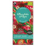 Chocolate and Love Fairtrade Organic Creamy 55% Dark Chocolate
