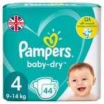 Baby Dry Nappies Size 4 Essential Pack 44 per pack