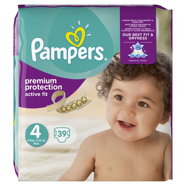Pampers Active Fit Nappies Size 4 Essential Pack