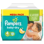 Pampers Baby Dry Nappies Size 4 Mega Pack
