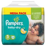 Pampers Baby Dry Nappies Size 5 Mega Pack