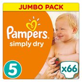 Pampers Simply Dry Nappies Size 5 Jumbo Pack