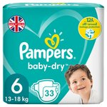 Pampers Baby-Dry Size 6, 33 Nappies