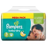 Pampers Baby Dry Nappies Size 3 Mega Pack
