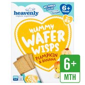 Heavenly Organic Yummy Wafer Wisps Pumpkin & Banana