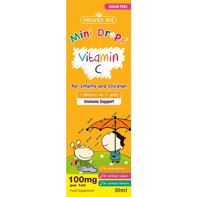 Natures Aid Vitamin C Drops For Infants Amp Children Ocado