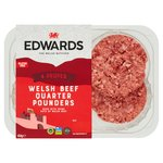 Edwards of Conwy 4 Welsh Beef Quarterpounders