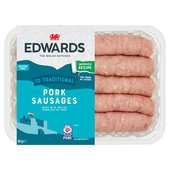 Edwards of Conwy 10 Traditional Pork Sausages Family Pack