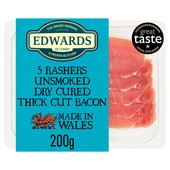 Edwards of Conwy 5 Rashers Dry Cure Bacon