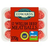 Edwards of Conwy 12 Welsh Beef Meatballs