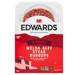 Edwards of Conwy 2 Welsh Beef Steak Burgers