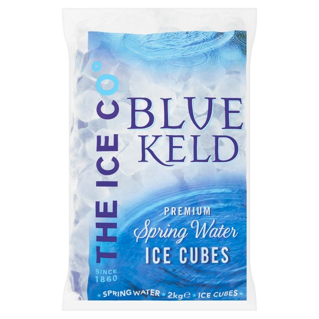 Blue Keld Spring Water Premium Ice Cubes 2kg From Ocado