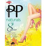 Pretty Polly 8 Denier Naturals Oiled Tights, Black, M/L