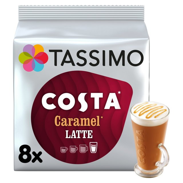 Costa Coffee Caramel Latte Coffee: Tassimo Costa Caramel Latte Coffee Pods 8 Per Pack From Ocado