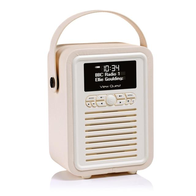 cream retro mini digital radio from ocado. Black Bedroom Furniture Sets. Home Design Ideas