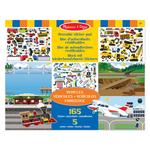 Melissa & Doug Reusable Sticker Pad Vehicles, 3yrs+