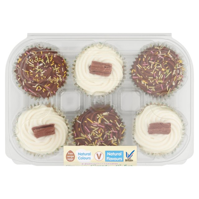 Emmas Handmade Cupcakes Of The Month 6 Per Pack From Ocado