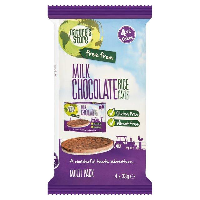 Nature S Organic Milk Chocolate Rice Cakes Gluten Free