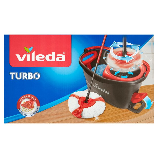 vileda easy wring clean turbo mop bucket set from ocado. Black Bedroom Furniture Sets. Home Design Ideas