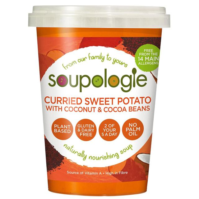 Soupologie Super Soup Curried Sweet Potato with Coconut & Raw Cacao