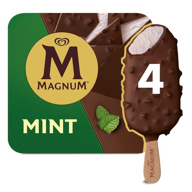 magnum mint ice cream 4 x 110ml from ocado