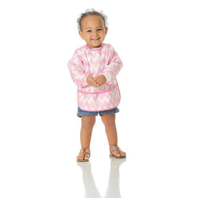 Pink Chevron Hippychick Bumkins Sleeved Bib
