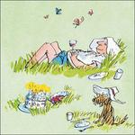 Quentin Blake Snoozing Birthday Card