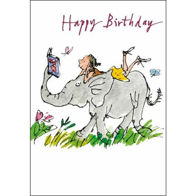 Quentin Blake Elephant Birthday Card from Ocado