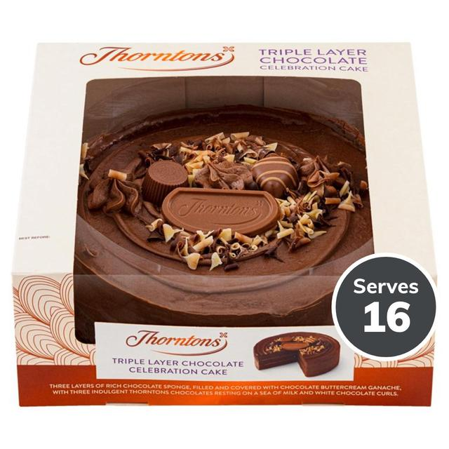 Thorntons Triple Layer Chocolate Celebration Cake