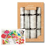 Waitrose Silver & White Christmas Crackers