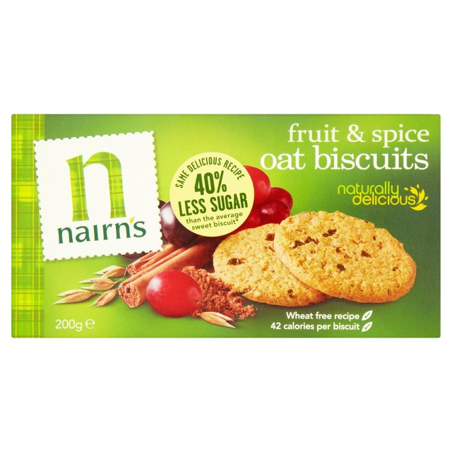 Nairn's Wheat Free Fruit & Spice Biscuits