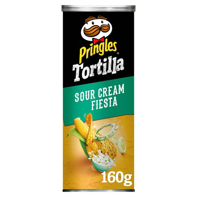 Pringles Tortilla Sour Cream & Onion 160g from Ocado