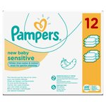 Baby Wipes New Baby Sensitive 12 x 50 per pack