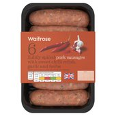 6 British Pork & Sweet Chilli Sausages Waitrose